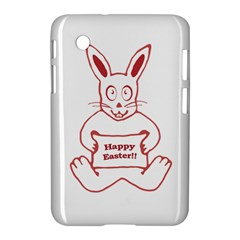 Cute Bunny With Banner Drawing Samsung Galaxy Tab 2 (7 ) P3100 Hardshell Case  by dflcprints