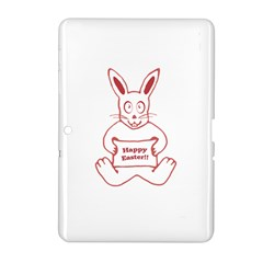 Cute Bunny With Banner Drawing Samsung Galaxy Tab 2 (10 1 ) P5100 Hardshell Case  by dflcprints