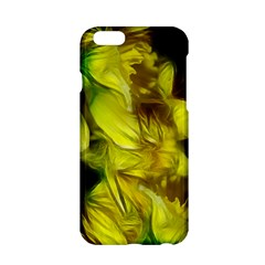 Abstract Yellow Daffodils Apple Iphone 6 Hardshell Case by bloomingvinedesign