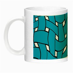 Blue Distorted Weave Night Luminous Mug by LalyLauraFLM