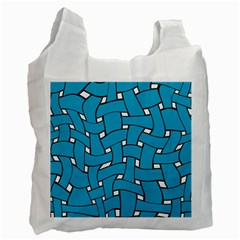 Blue distorted weave Recycle Bag (One Side) by LalyLauraFLM