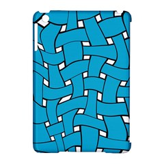 Blue distorted weave Apple iPad Mini Hardshell Case (Compatible with Smart Cover) by LalyLauraFLM