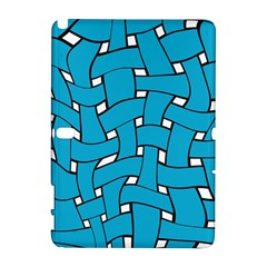 Blue Distorted Weave Samsung Galaxy Note 10 1 (p600) Hardshell Case by LalyLauraFLM