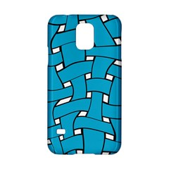 Blue Distorted Weave Samsung Galaxy S5 Hardshell Case