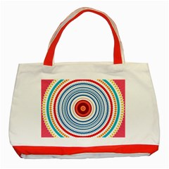 Colorful Round Kaleidoscope Classic Tote Bag (red) by LalyLauraFLM