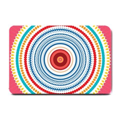 Colorful Round Kaleidoscope Small Doormat by LalyLauraFLM