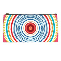 Colorful Round Kaleidoscope Pencil Case by LalyLauraFLM