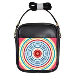Colorful Round Kaleidoscope Girls Sling Bag by LalyLauraFLM