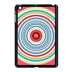 Colorful Round Kaleidoscope Apple Ipad Mini Case (black) by LalyLauraFLM