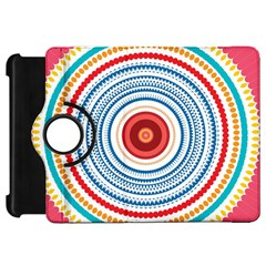 Colorful Round Kaleidoscope Kindle Fire Hd Flip 360 Case by LalyLauraFLM