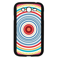 Colorful Round Kaleidoscope Samsung Galaxy Grand Duos I9082 Case (black) by LalyLauraFLM
