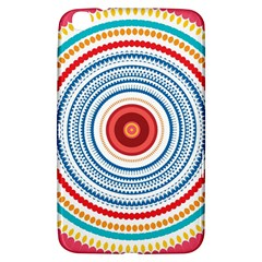 Colorful Round Kaleidoscope Samsung Galaxy Tab 3 (8 ) T3100 Hardshell Case  by LalyLauraFLM