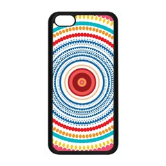 Colorful Round Kaleidoscope Apple Iphone 5c Seamless Case (black) by LalyLauraFLM