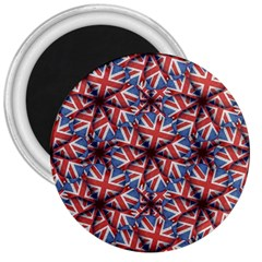 Heart Shaped England Flag Pattern Design 3  Button Magnet by dflcprints