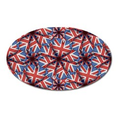 Heart Shaped England Flag Pattern Design Magnet (oval) by dflcprints