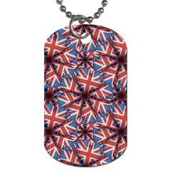 Heart Shaped England Flag Pattern Design Dog Tag (one Sided) by dflcprints