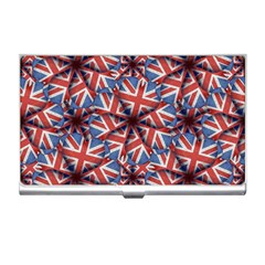 Heart Shaped England Flag Pattern Design Business Card Holder by dflcprints