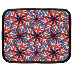 Heart Shaped England Flag Pattern Design Netbook Sleeve (xxl) by dflcprints