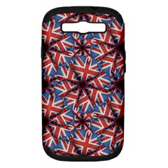 Heart Shaped England Flag Pattern Design Samsung Galaxy S Iii Hardshell Case (pc+silicone) by dflcprints
