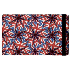 Heart Shaped England Flag Pattern Design Apple Ipad 2 Flip Case by dflcprints