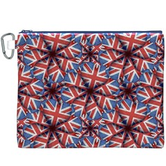 Heart Shaped England Flag Pattern Design Canvas Cosmetic Bag (XXXL) by dflcprints