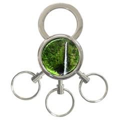 Akaka Falls 3 Ring Key Chain by bloomingvinedesign