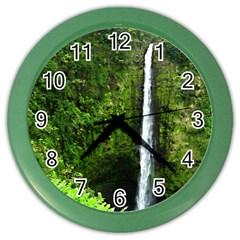 Akaka Falls Wall Clock (color) by bloomingvinedesign