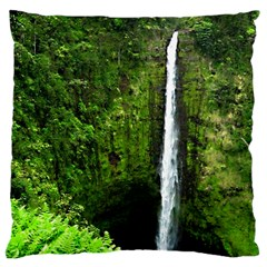 Akaka Falls Large Cushion Case (single Sided)  by bloomingvinedesign