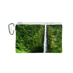 Akaka Falls Canvas Cosmetic Bag (small) by bloomingvinedesign