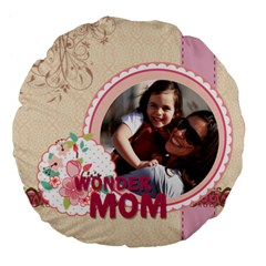 Mothers Day By Mom   Large 18  Premium Flano Round Cushion    Qp8j0myrxozl   Www Artscow Com Front