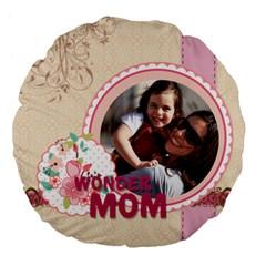 Mothers Day By Mom   Large 18  Premium Flano Round Cushion    Qp8j0myrxozl   Www Artscow Com Back