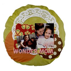 Mothers Day By Mom   Large 18  Premium Flano Round Cushion    R2w2l2jgm9mg   Www Artscow Com Back