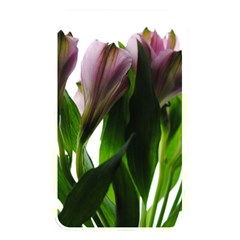 Pink Flowers On White Memory Card Reader (rectangular) by bloomingvinedesign
