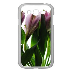 Pink Flowers On White Samsung Galaxy Grand Duos I9082 Case (white) by bloomingvinedesign