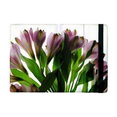 Pink Flowers On White Apple Ipad Mini 2 Flip Case by bloomingvinedesign