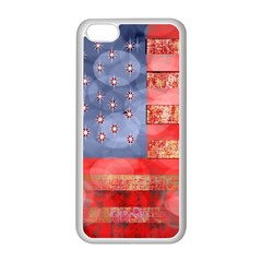 Distressed American Flag Apple Iphone 5c Seamless Case (white)