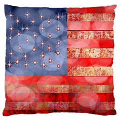 Distressed American Flag Standard Flano Cushion Case (one Side) by bloomingvinedesign