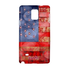 Distressed American Flag Samsung Galaxy Note 4 Hardshell Case by bloomingvinedesign