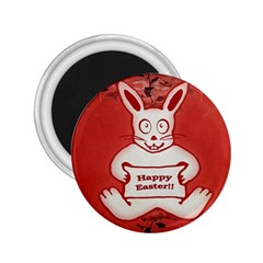 Cute Bunny Happy Easter Drawing Illustration Design 2 25  Button Magnet by dflcprints