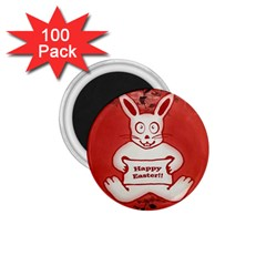 Cute Bunny Happy Easter Drawing Illustration Design 1 75  Button Magnet (100 Pack) by dflcprints