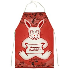 Cute Bunny Happy Easter Drawing Illustration Design Apron by dflcprints