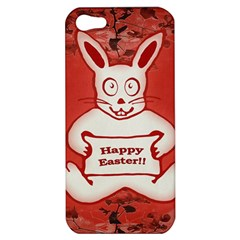 Cute Bunny Happy Easter Drawing Illustration Design Apple Iphone 5 Hardshell Case by dflcprints