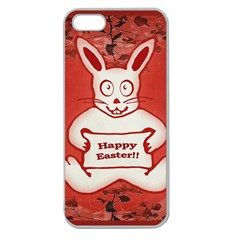 Cute Bunny Happy Easter Drawing Illustration Design Apple Seamless Iphone 5 Case (clear) by dflcprints