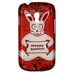 Cute Bunny Happy Easter Drawing Illustration Design Samsung Galaxy S3 Mini I8190 Hardshell Case by dflcprints