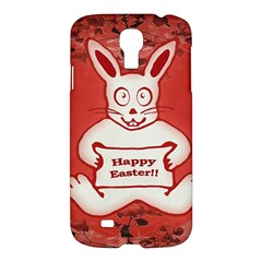 Cute Bunny Happy Easter Drawing Illustration Design Samsung Galaxy S4 I9500/i9505 Hardshell Case by dflcprints