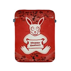 Cute Bunny Happy Easter Drawing Illustration Design Apple Ipad Protective Sleeve by dflcprints