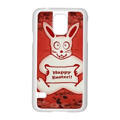 Cute Bunny Happy Easter Drawing Illustration Design Samsung Galaxy S5 Case (white) by dflcprints