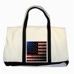 American Flag In Glitter Photograph Two Toned Tote Bag by bloomingvinedesign