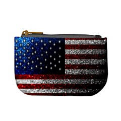 American Flag In Glitter Photograph Coin Change Purse by bloomingvinedesign
