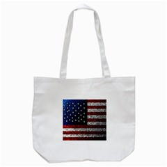 American Flag In Glitter Photograph Tote Bag (white) by bloomingvinedesign